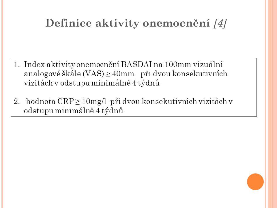 Definice aktivity onemocnění [4]